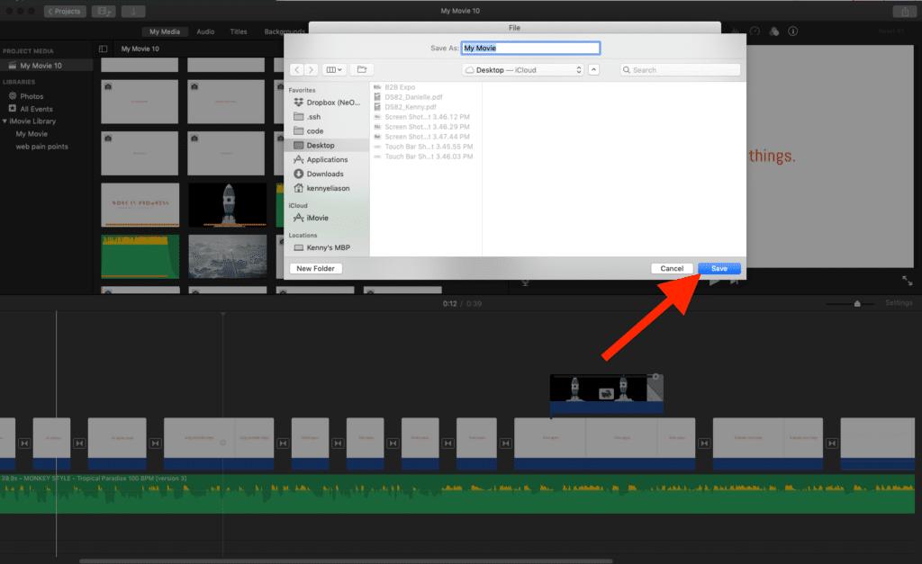 Save to Desktop iMovie to iPhone